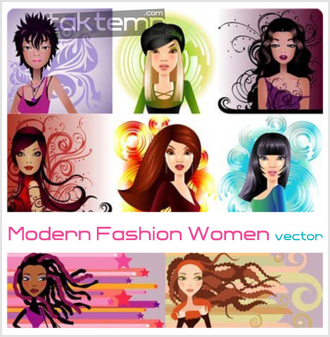 Modern-Fashion-Women-vector