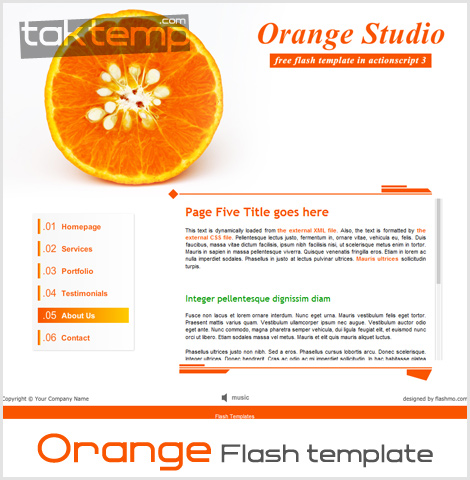Orange-Flash-template
