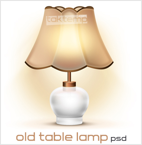 old-table-lamp-psd